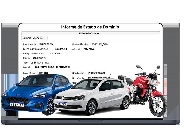 informe de dominio automotor